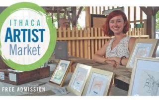 Ithaca Artist Market advertisement