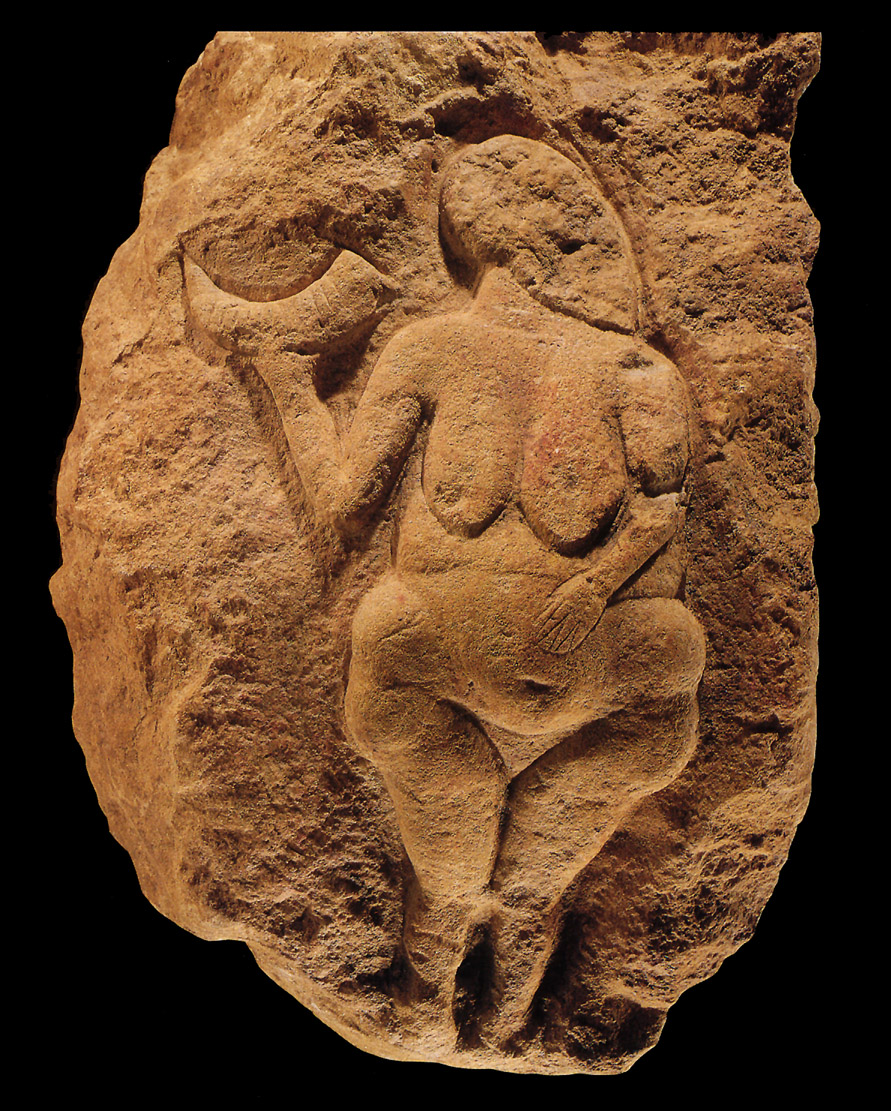 Venus of Laussel stone sculpture