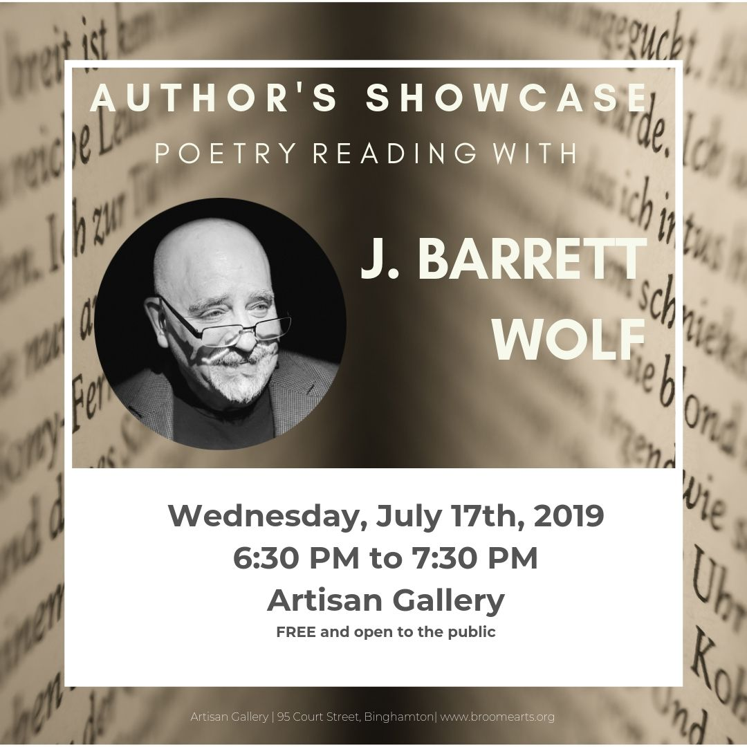 Author's Showcase presents Poetry Reading with J  Barrett Wolf