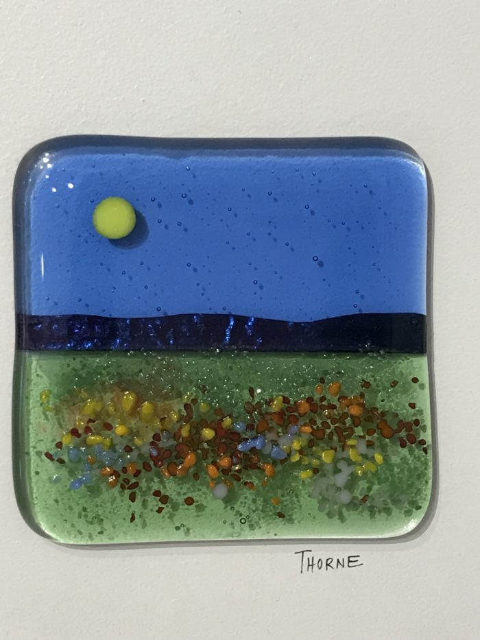Joanne Thorne Arnold, Fused Glass Art Plaque 03