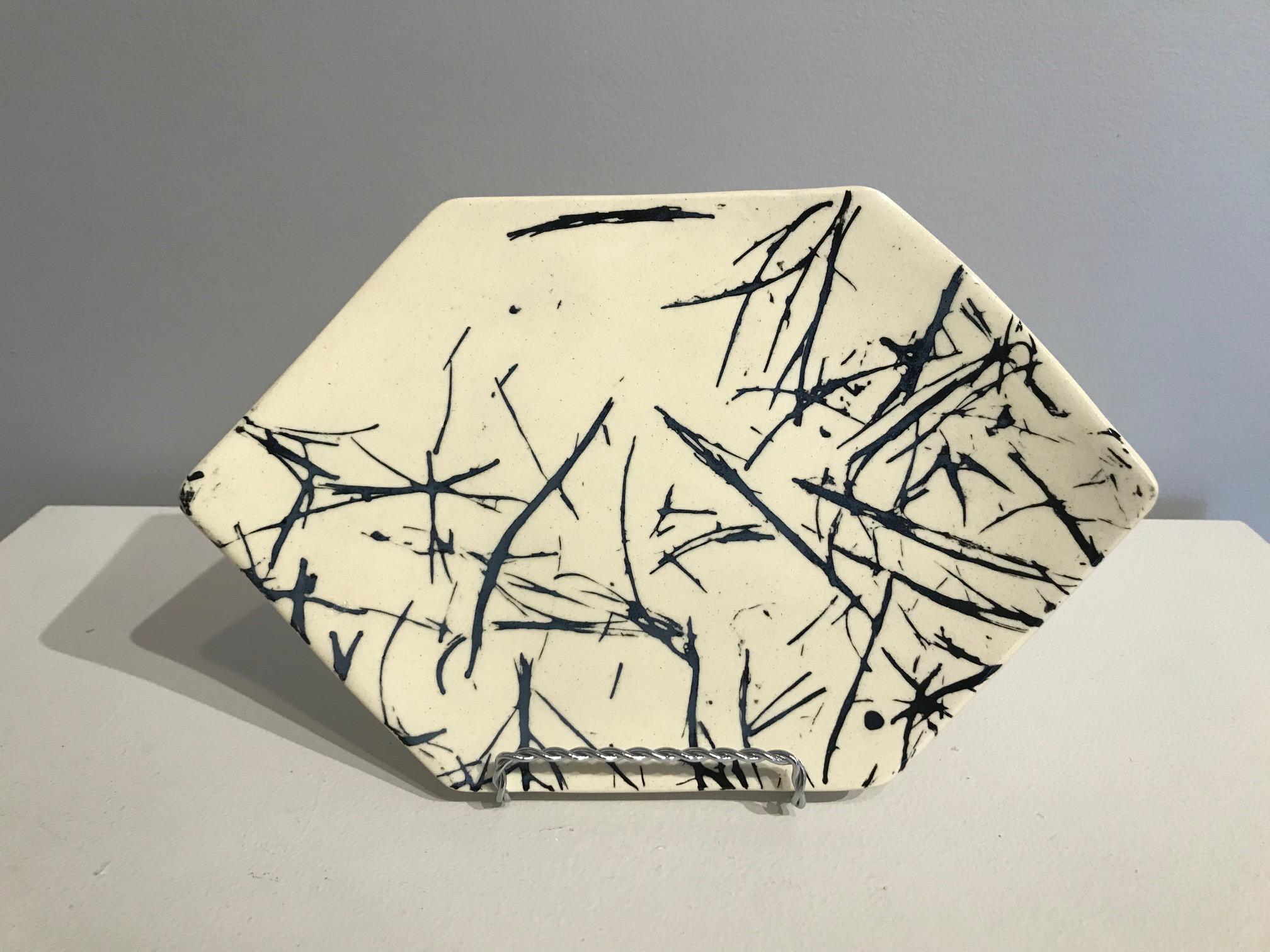 Nancy Ryan, Ceramic Hexagon B&W Plate