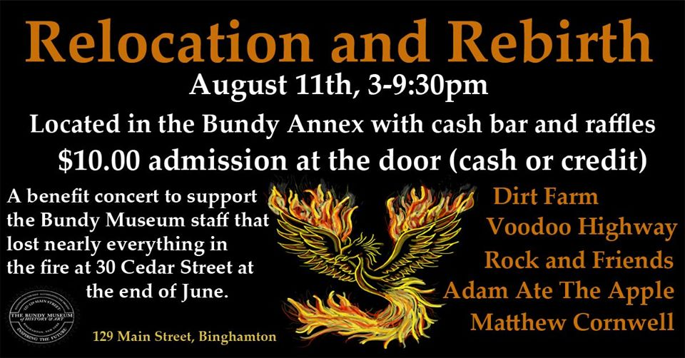 Relocation and Rebirth: Music Benefit for House-Fire Victims   Broome  County Arts Council